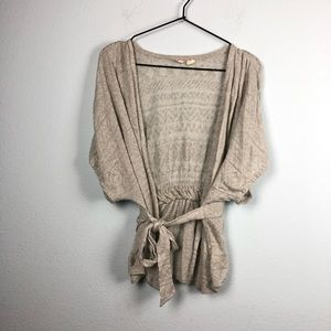 Anthropologie • Moth Short Sleeve Belted Cardigan